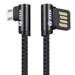 ZF-BLMC2 Zoook Braided Micro USB Charging Cable- Black