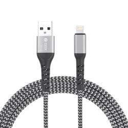 ZF-Strong i100 Zoook Strong i100 Fabric Pure Copper Cable for Charge & Sync- Silver+Black preview