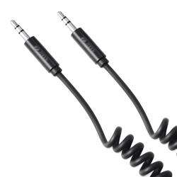ZF-AUXC Zoook Coiled Aux Cable ith Gold Plated Connectors 1.8m - Black preview