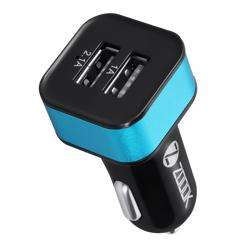 ZF-CU3A Zoook In-Car Charger 2 USB Output 5V 3.1A (with 1 Rapid Charge Port) - Black with Blue preview