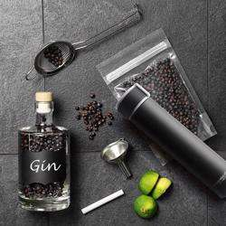 ASOBU Skinny Mini 8oz Fashion Forward Double Walled Stainless Steel Insulated Water Bottle Black preview