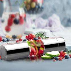 ASOBU Flavor U See a Stainless Steel Fruit Infuser Slim and Classy Water Bottle Silver preview
