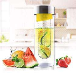 ASOBU Flavor It Glass Water Bottle With Fruit Infuser Yellow 600 ml preview