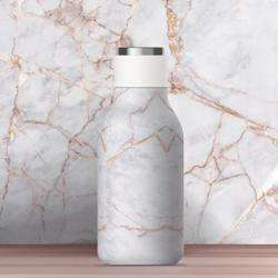ASOBU Urban Insulated and Double Walled 16 Ounce 24hrs Cool Stainless Steel Bottle - Marble preview