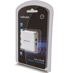 Astrum USB HUB USB 2.0 4 PORTS RUBBER COATING MATERIAL - White preview
