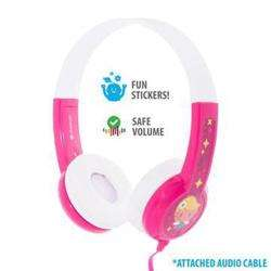 BUDDYPHONES Connect On-Ear Wired Headphones Pink preview