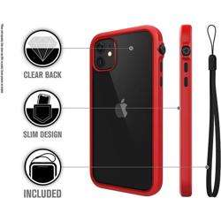 CATALYST Impact Protection Case for iPhone 11 - Black / Red preview