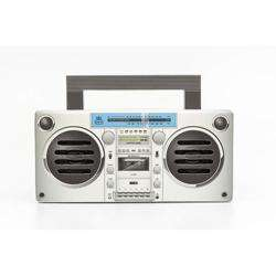 GPO Bronx Boombox Bluetooth Portable Speaker Silver preview