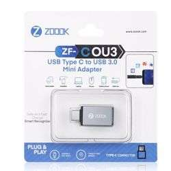Zoook ZF COU3 USB Type C to USB 3.0 Mini Adapter - Space Grey preview