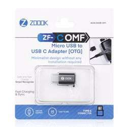 Zoook ZF COMF Micro USB to USB C Adapter[OTG] - Space Grey preview