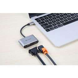 Zoook C Hub i4 Multi Point Adapter 4in1 for Type C Devices - Space Grey preview