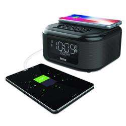iHOME Bluetooth Stereo Dual Alarm Clock with Speakerphone - Wireless Charging Plus USB Charging preview