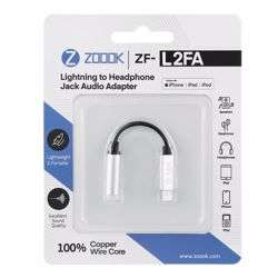 Zoook ZF L2FA SL Lightning to Aux Female Connector, Works with iPhone,iPad,iPhone - Silver preview
