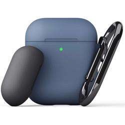 KEYBUDZ PodSkinz Switch Case with Carabiner for AirPods 1 & 2 - Cobalt Blue preview