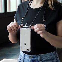 LOOKABE Necklace Clear Case with Cord for iPhone 11 Pro Max - Black preview