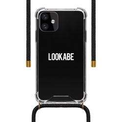 LOOKABE Necklace Clear Case with Cord for iPhone 11 - Black preview