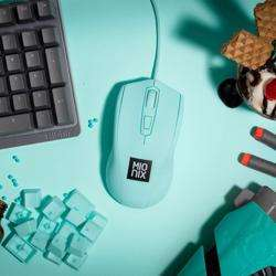 MIONIX Avior Ambidextrous Optical Gaming Mouse Ice Cream