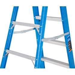 GAZELLE - 8 Ft. Fiberglass Step Ladder for working height up to 12 Ft. preview
