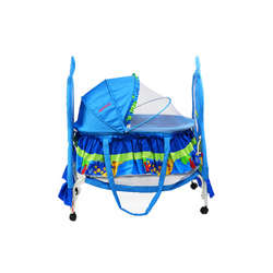 Baby Plus BP8297 Baby swing cradle cum crib With removable Mosquito Net - Blue preview