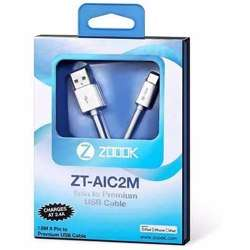 Zoook Apple Licensed iphone Charging Cable made of ABS with High Strength Connectors (1.8 Meter) - White preview