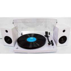 GPO Piccadily Stylish Turntable Bluetooth + 2 Speakers white preview