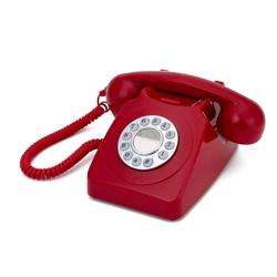GPO 746 Push-Button 1970s-style Retro Landline Telephone Red preview