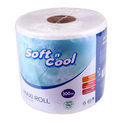 Soft n Cool Embossed Maxi Toilet Roll White 300 meter