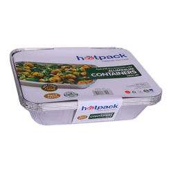 Hotpack 60-Piece Disposable Container With Lid Silver