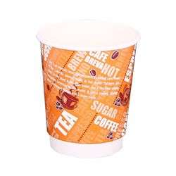 Hotpack 1000-Piece Double Wall Paper Cup Multicolour 4 ounce