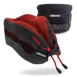 CABEAU Evolution Cool Travel Pillow, Air Circulating Head and Neck Memory Foam Cooling Travel Pillow Red preview