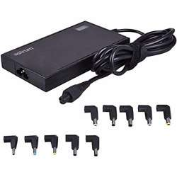 Astrum Universal Charger Automatic Slim Laptop with Display 3 Pin UK 90W, 12V - 24V Home Power Plug, Multi pins for Laptops, 11pins [AST UADP] - Black preview