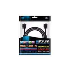 Astrum Monitor/SVGA Cable Male to Male 5.0M - Black preview