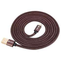 Zoook Denim Fabric Pure Copper Cable for Charge & Sync 1m / 2A Support/ Micro USB - Denim Brown preview