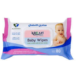Arean Baby Wipes - 1 pack x 80 wipes