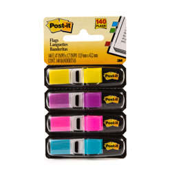 Post-it® Flags 683-4AB, .47 in x 1.71 in Assorted Brights -Multicolor