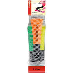 Stabilo Highlighter Neon Pack Of 3 Assorted Colours