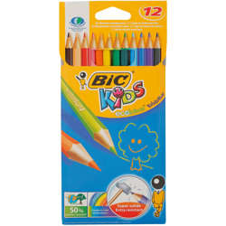 Bic Kids Evolution Ecolutions Colouring Pencils - Assorted Colours, Pack Of 12