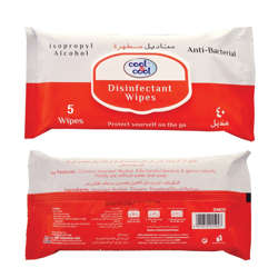 Cool & Cool Disinfectant Wipes 5's - with Isopropyl Alocohol