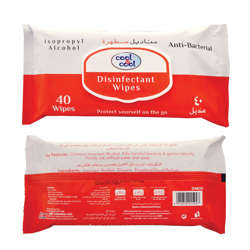 Cool & Cool Disinfectant Wipes 40's - with Isopropyl Alcohol