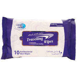 Cool & Cool Travelling Wipes - 10'S