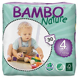 Bambo Nature Eco-Friendly Diapers, Size 4, 7-18 kg (30 diapers)
