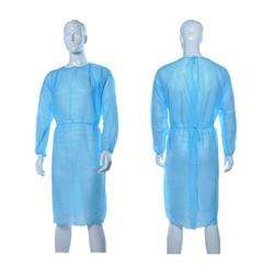 Disposable Isolation Gown 30GSM SS-Non Woven (Elastic at Cuff) Medical Blue-1Pack/100Pcs