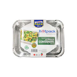 Hotpack Aluminum Food Storage Container,890cc-Twinpack 10x2Pcs 20% Off