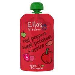 Ella''s Kitchen Puree Red Peppers Sweet Potatoes Apple 120 Gr