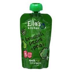 Ella''S Kitchen Organic Puree Broccoli Pears Peas 120 Gr