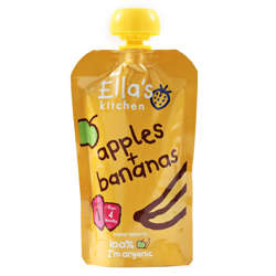 Ella''S Kitchen Organic Puree Apples + Bananas 120 Gr