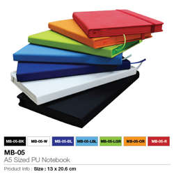 Promotional A5 Notebook With Calendar, Pocket & Pen Holder-A5 (155x210x14mm )