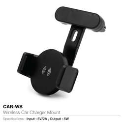 Wireless Car Charger Mount-Black color