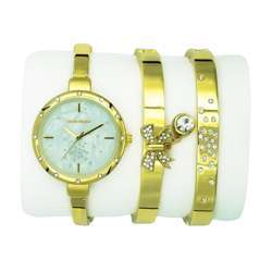 Trend Setter Women''s Gold Watch Set - Metal Band TD-9216-2 preview