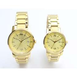 Challenger Pair''s Gold Watch - Stainless Steel S12547L-1P
